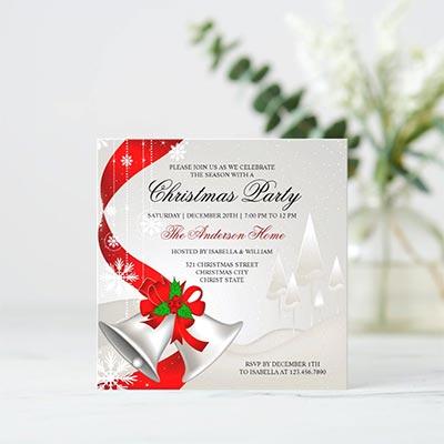 Elegant-Red-Loop-Silver-Bells-Christmas-Party-Invitation