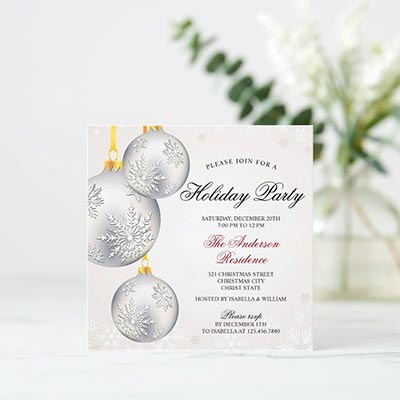 Elegant-Silver-Baubles-Christmas-Holiday-Party-Invitation