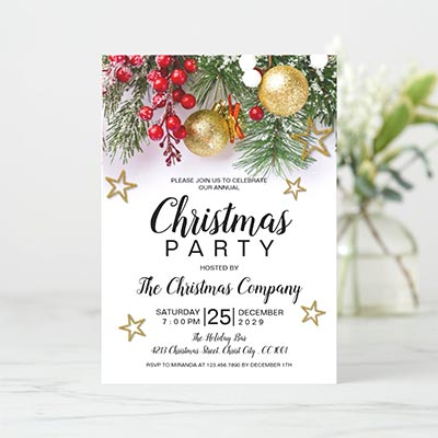 Rustic-Gold-Baubles-Berries-Stars-Christmas-Party-Invitation