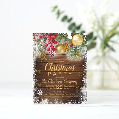 Rustic-Gold-Stars-Christmas-Party-Invitation-Postcard